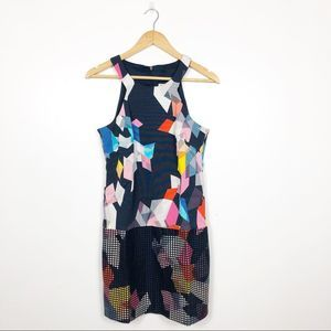 TRINA TURK   Multicolored Geometric Sheath Dress